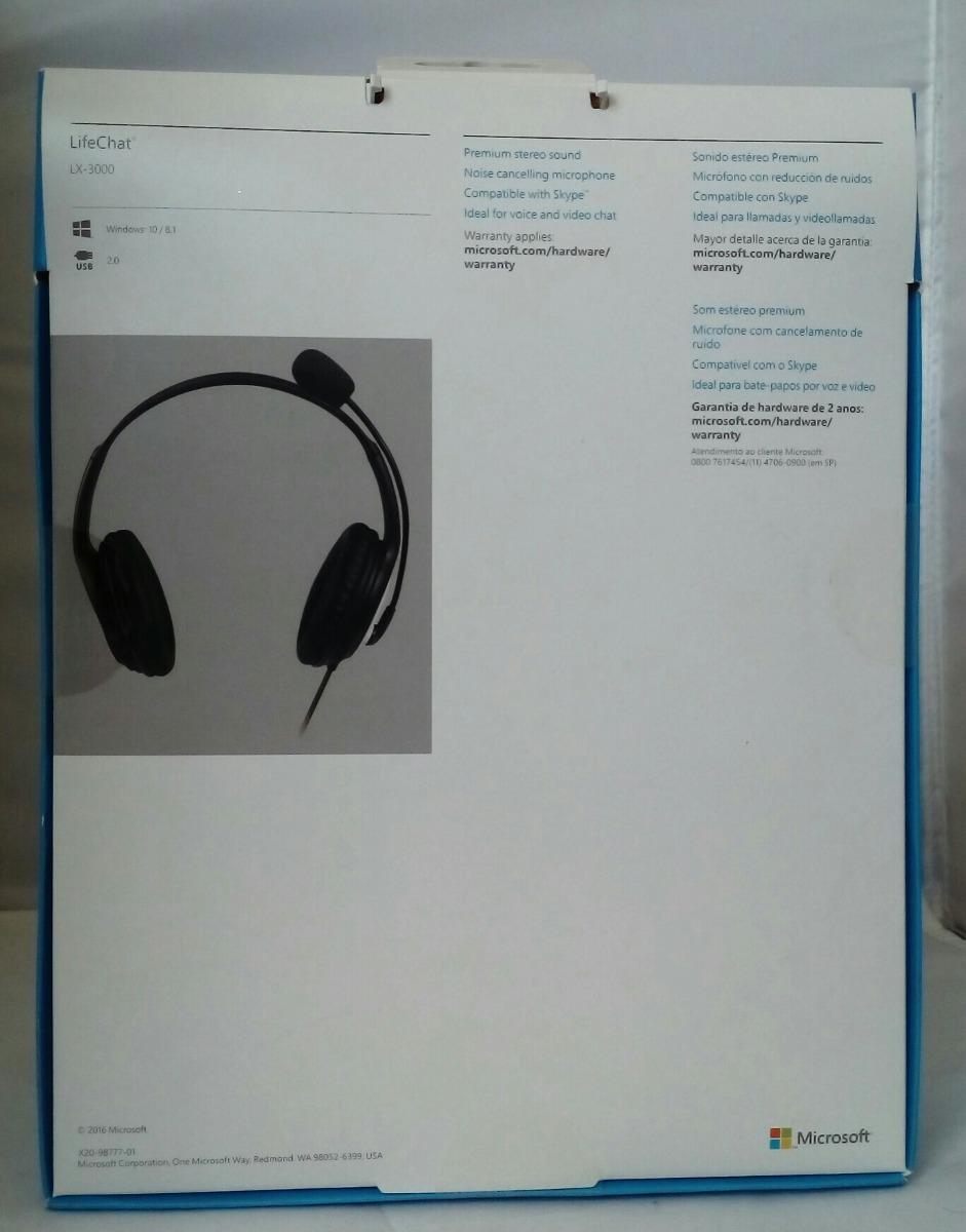 ce17062e868 Diadema Audifonos Y Microfono Microsoft Lifechat Lx-3000 - $ 653.00 ...