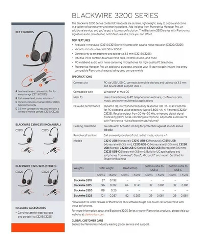diadema binaural con conectividad usb/usb-a y de 3.5 mm