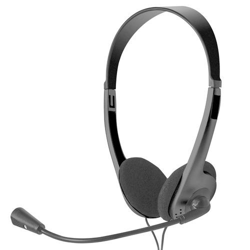 diadema con microfono xtech xts-220 ajustable 3.5mm negro