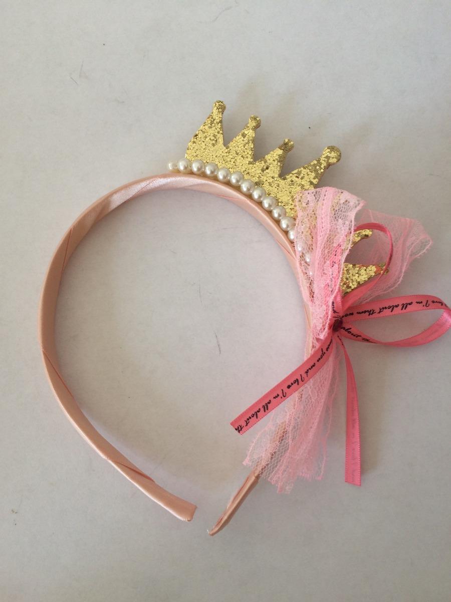 diadema corona princesa dorada