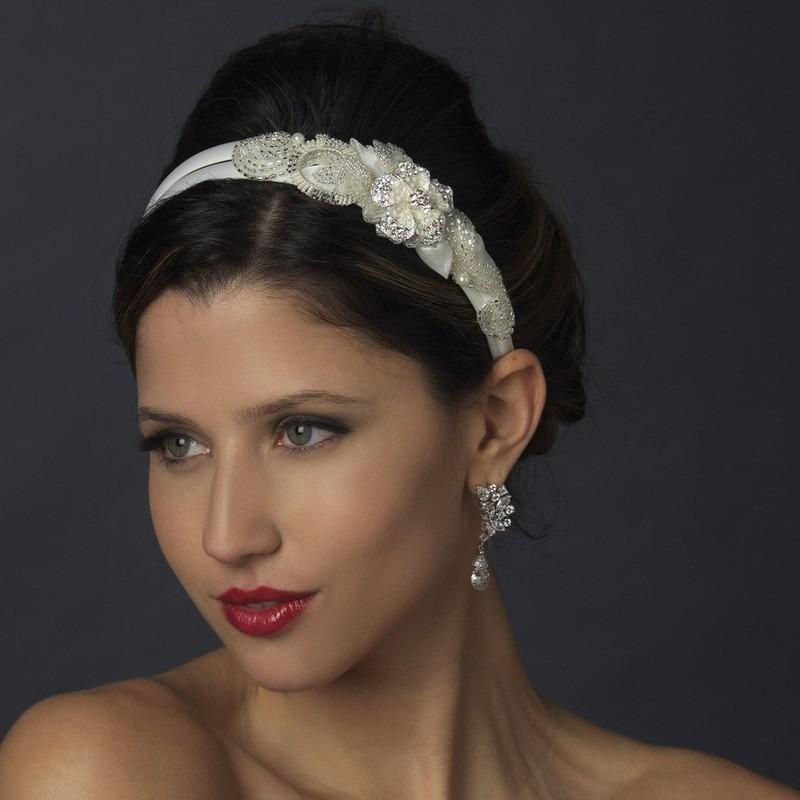 diadema de novia bordada canutillo lentejuela y cristales. Cargando zoom.