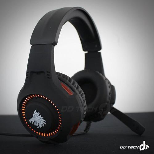 diadema gamer eagle warrior echo roja microfono jack 3.5 x2
