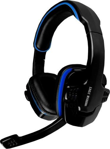 diadema gamer eagle warrior hs-501 azul - microfono abatible