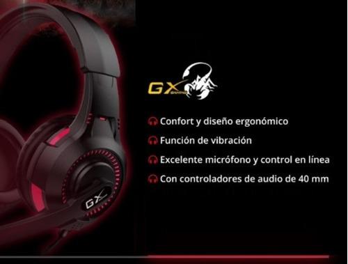 diadema gamer genius gx hs-g600v con función de vibración