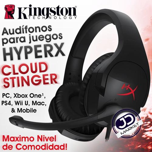 diadema gamer kingston hyperx cloud stinger, pc / ps4 / xbox