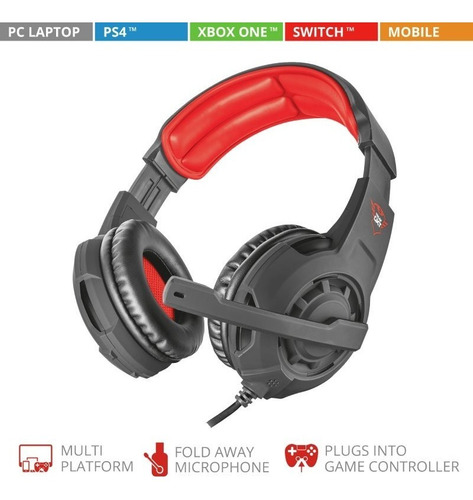 diadema gamer trust gxt 310-3.5mm-pc-ps4-xbox one-laptop