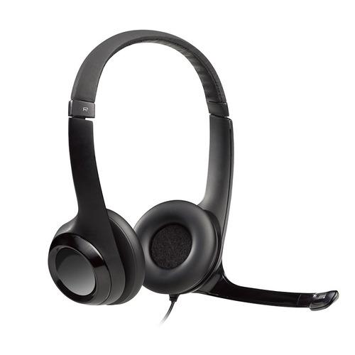 diadema logitech h390 stereo con microfono usb