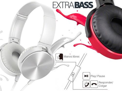 diadema microfono extra bass  xb-450 blanco azul