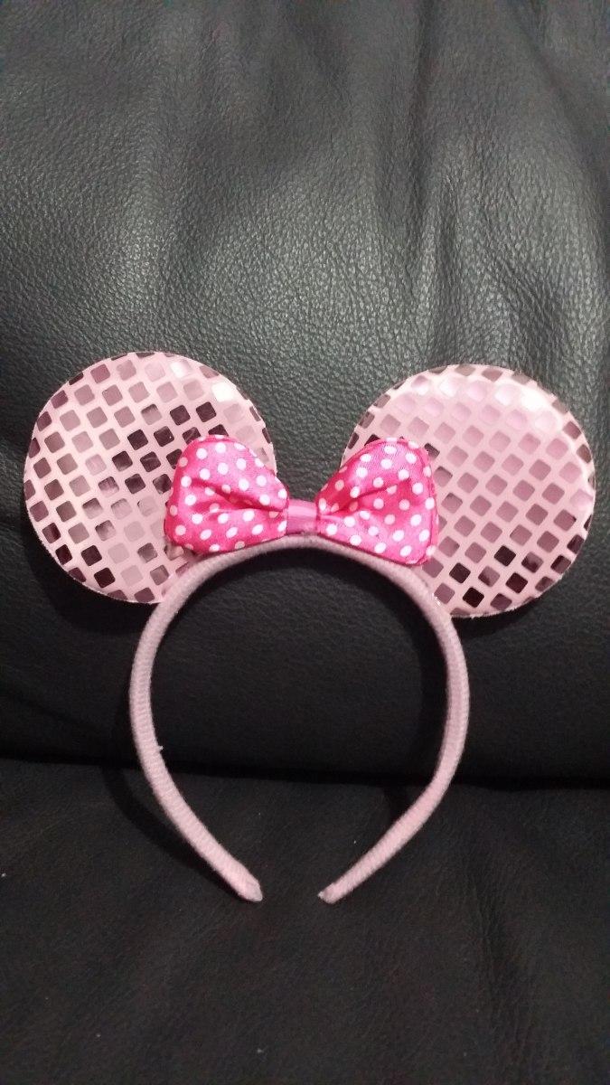 Diadema Orejas Minnie Mouse Raton Mimi Rosa Rojo Negra - $ 14.90 en ...