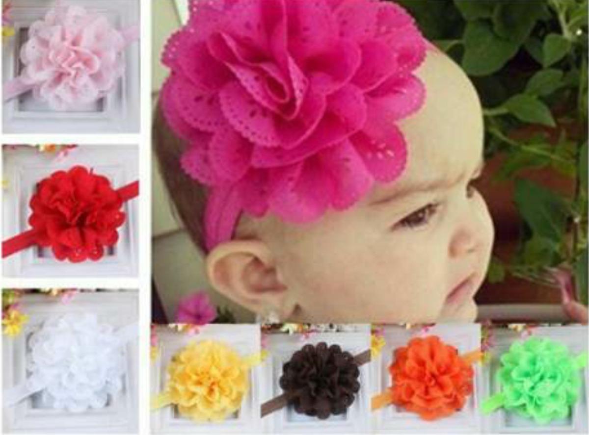 Diadema para bebe ni a princesa venda cabello flor 49 - Diademas de flores para nina ...