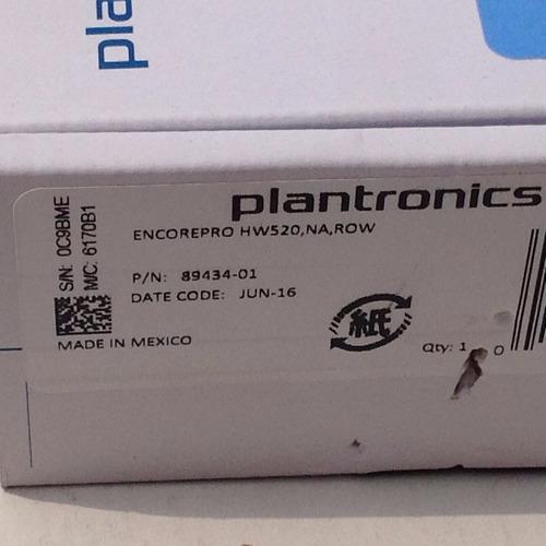 diadema plantronics binaural profesional hw520