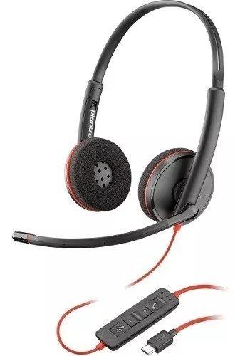 diadema plantronics/poly blackwire c3220 usb estereo