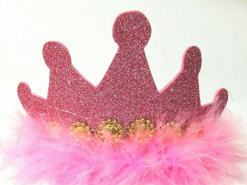 diadema princesa rosado iris niña fiesta piñata cumpleaños