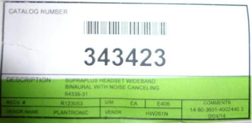 diadema profesional plantronics supra plus hw261