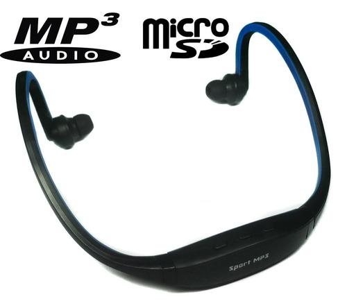diadema reproductor sport mp3 wma micro sd 4gb incluida