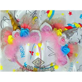 Diadema Unicornio Arcoiris Niña Mujer Fiesta Piñata