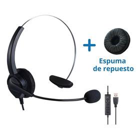 Diadema Usb Mono Auricular Con Micrófono / Call Center