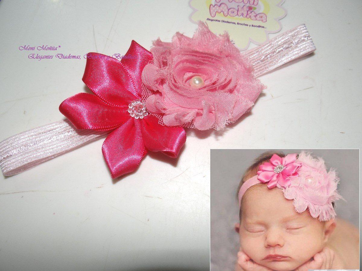 Diademas banditas flores gasa chiffon bebe ni as - Material para hacer diademas ...