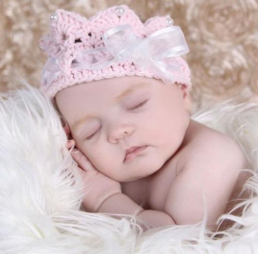 Diademas de coronas tejidas para bebes bs 120 00 en - Diademas para bebes bautizo ...