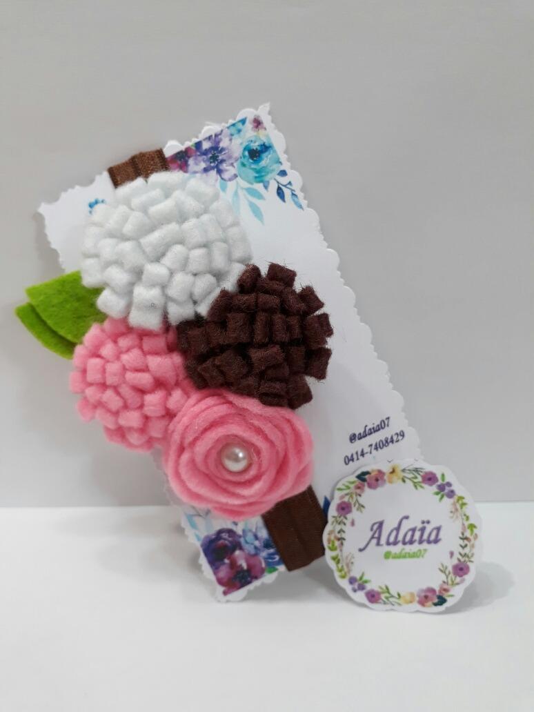 Diademas de flores cintas para ni as de fieltro bs 16 - Diademas de flores para nina ...