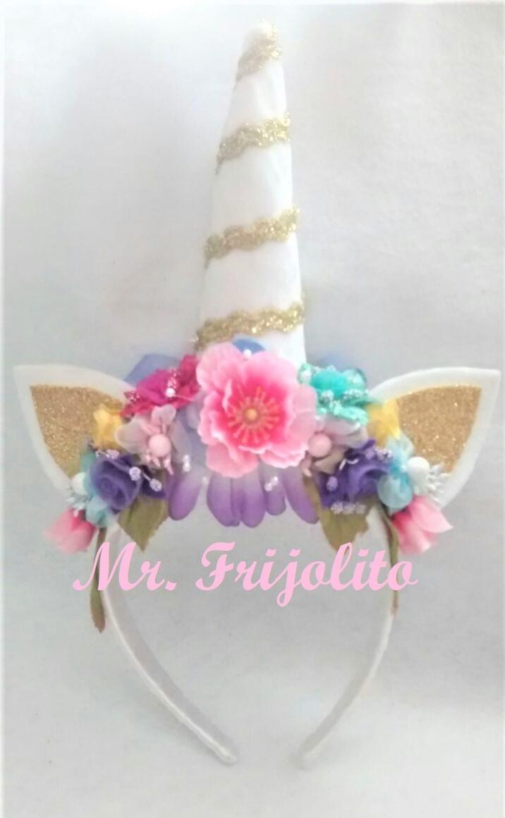 Diademas De Unicornio Con Flores Bebes Ninas Envio Incluido - Como-se-hacen-diademas