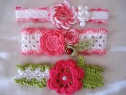 diademas para bebe  en crochet