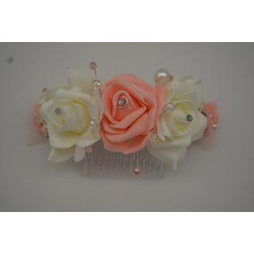 85a8b92bab8f Tocado Rosas 2a Comunión Novia Xv Vintage Ivory
