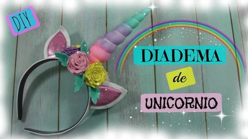 diademas unicornio en foami para niña