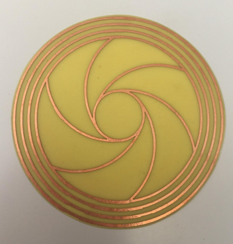 diafragma 2 cobre 9 cm gráfico radiestesia placas