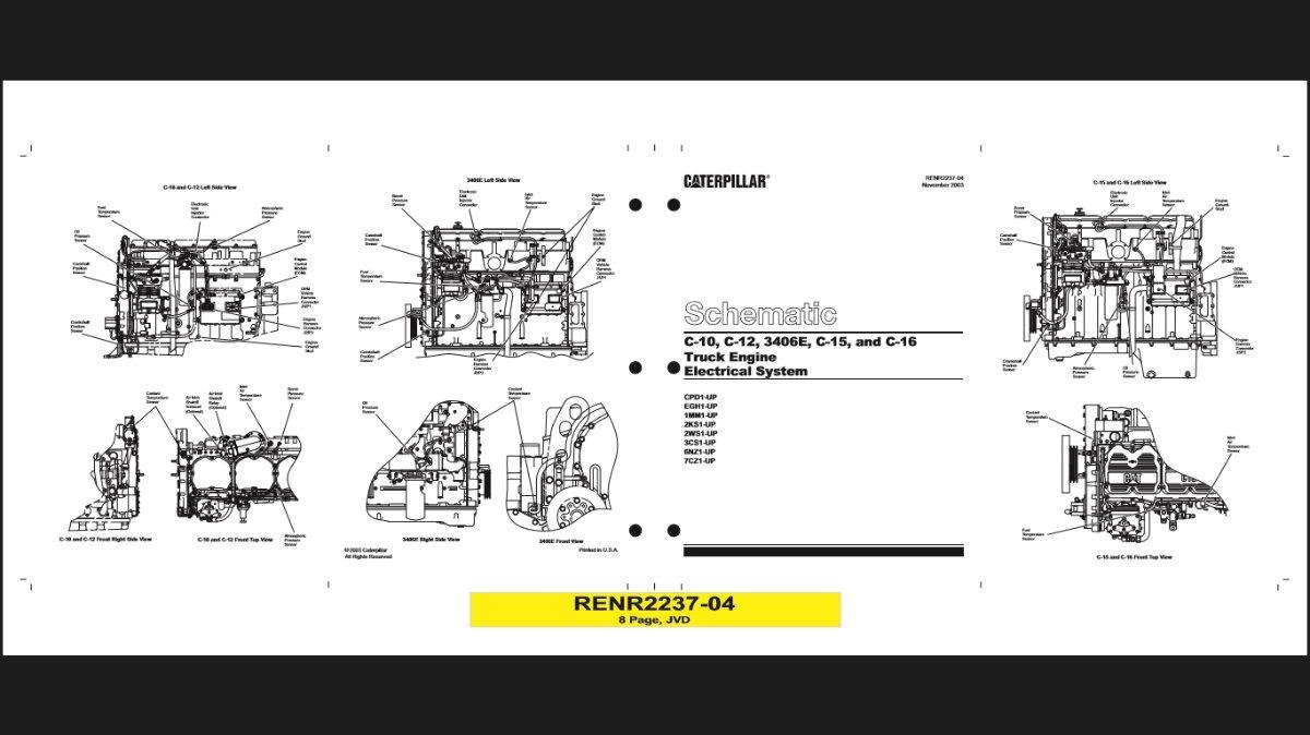 Doc  Diagram C13 Caterpillar Engine Diagram Ebook
