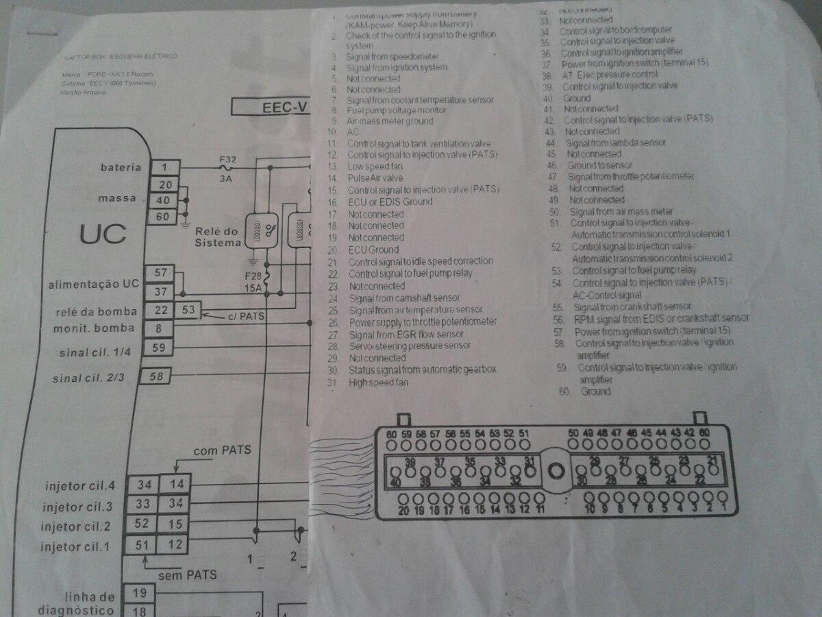 Diagrama Electrico Ecu  Computadora  Ford Ka 2005