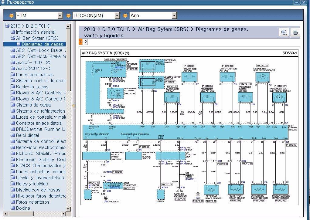Diagrama Electricos    Hyundai    Tucsonh1   sonata   tiburon