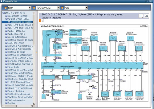 Diagrama Electricos Hyundai Tucson H1 Sonata Tiburon