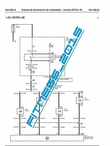 diagramas electrico ford fiesta 1996 - 2002 cableado español