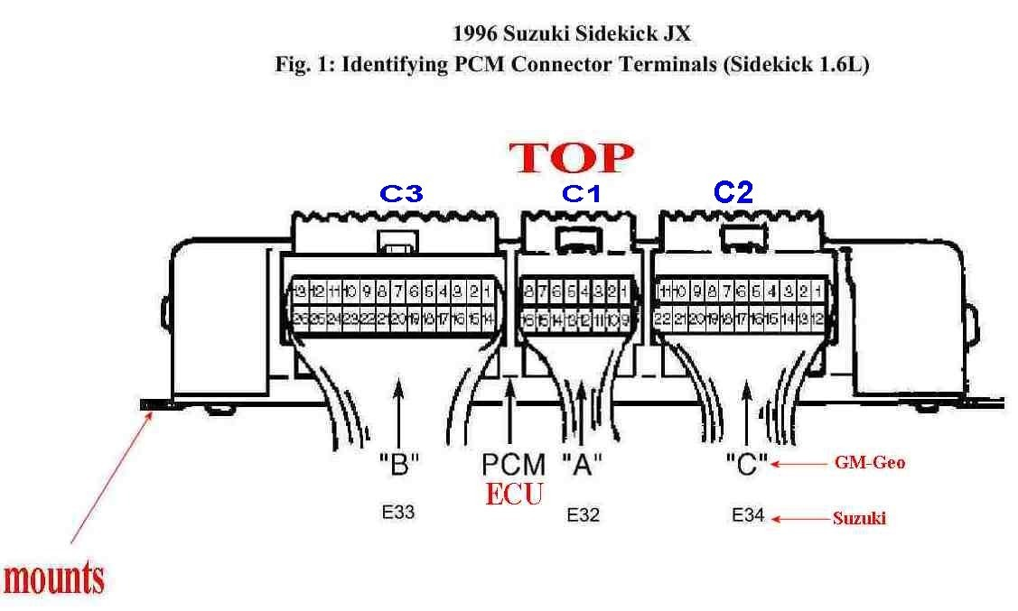 Diagramas El U00e9ctricos Ecu Pines