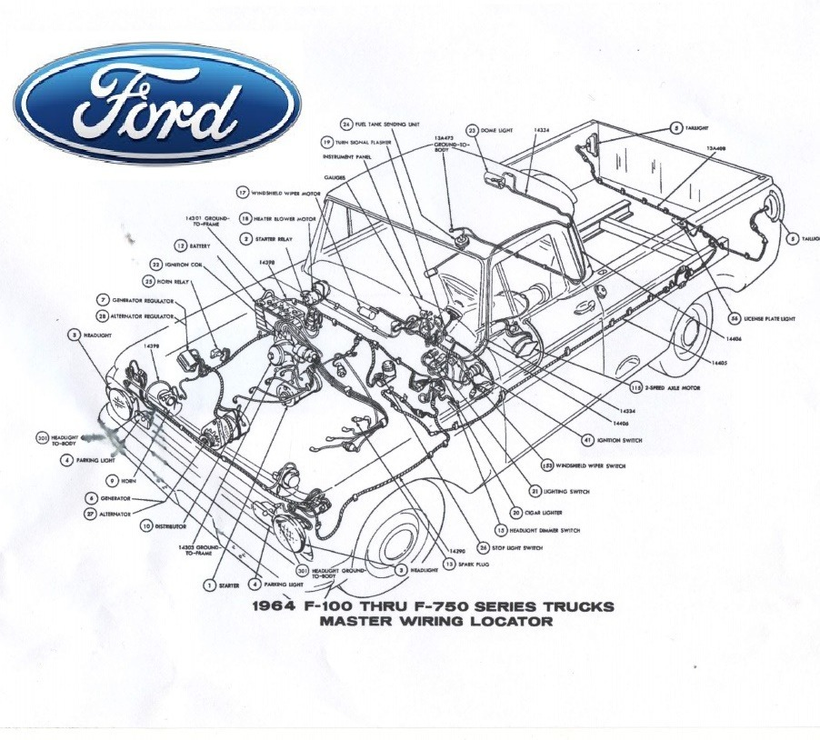 Diagramas Eléctricos Ford Pick Up F100 F250 F350 F750 - Bs ...
