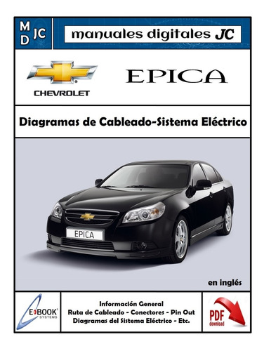 diagramas sistema electrico chevrolet epica - original