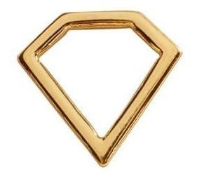 diamante con cadena en chapa de oro 22 kilates