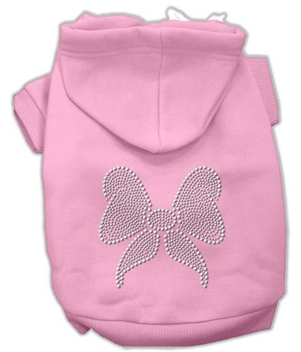 diamante de imitación arco hoodies rosa xl (16)