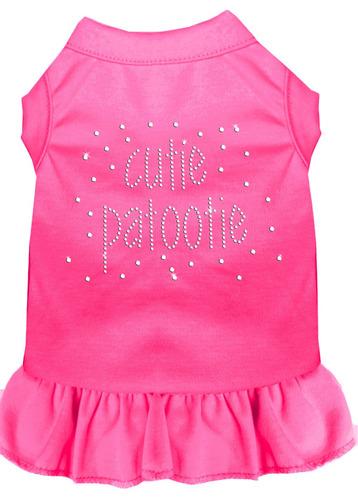 diamante de imitación chica patootie vestido brillante rosa