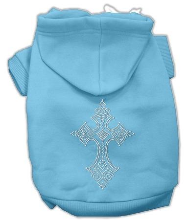 diamante de imitación cruz sudaderas con capucha bebé azul