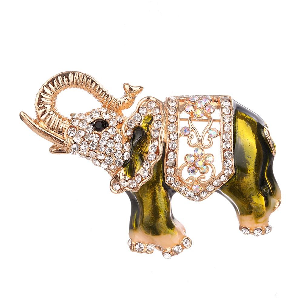 Diamante De Vestido Imitación Broche Ramillete Elefante Moda rCeodxB
