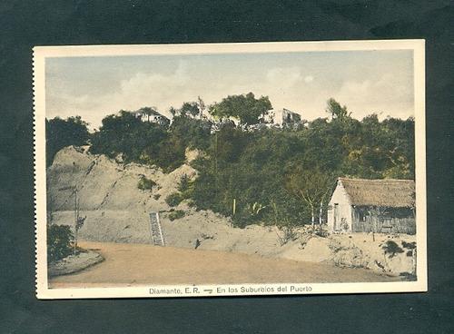 diamante entre rios .  . antigua tarjeta postal . tipo 2 .