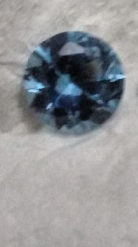 diamante lab. 4.30 ct azul  10 milímetros volta lindo