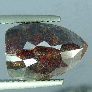 diamante orangy brown corte especial 7 ct. único