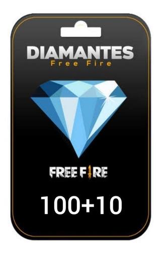 diamantes 100+10 garena free fire
