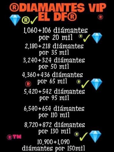 diamantes free fire sólo por id