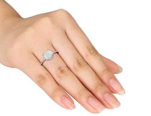 diamantes plata anillo