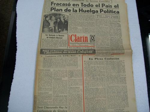diario clarin 16 de noviembre de 1955 - huelga cgt