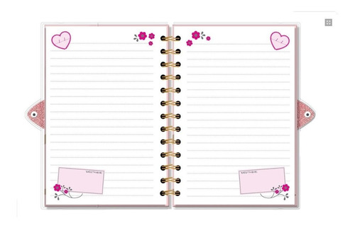 diário com chave bicho preguiça